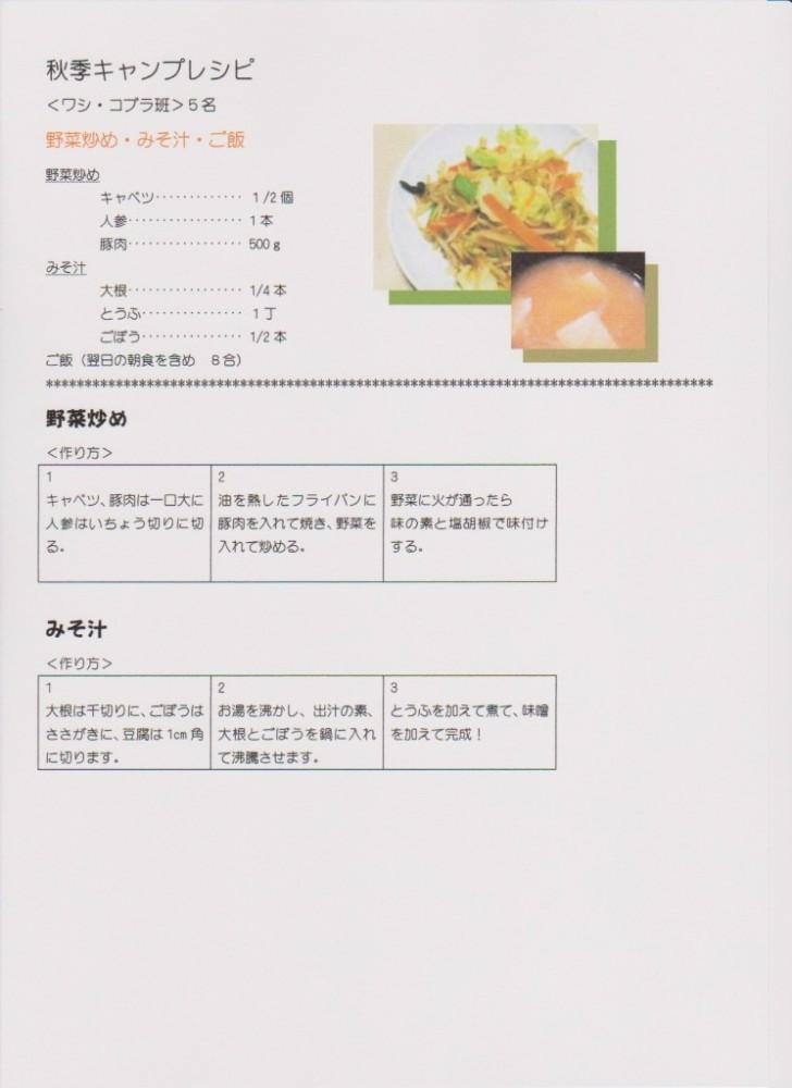 秋季キャンプレシピ1